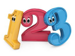 Graphic Of Colorful Numbers Fun Theme Stock Photo