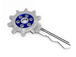 Graphic Of Gear Key Stock Photo