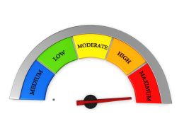 Graphic Of Meter With Maximum Rating Stock Photo