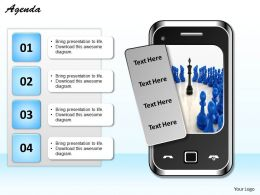 Graphic Of Mobile With Four Text Box 0214