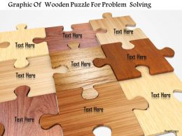 Graphic Of Wooden Puzzle For Problem Solving Image Graphics For Powerpoint