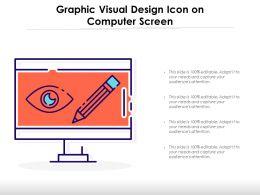 Graphic Visual Design Icon On Computer Screen