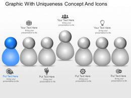 Graphic With Uniqueness Concept And Icons Powerpoint Template Slide