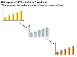 Graphical Representation Using Dollars Growth Ppt Powerpoint Slides