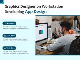 Graphics Designer On Workstation