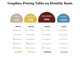 Graphics Pricing Table On Monthly Basis