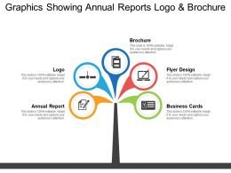Graphics Showing Annual Reports Logo And Brochure
