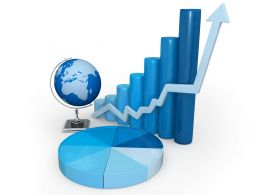 Graphs For Global Business Stock Photo