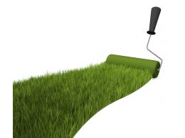 Grass Ground With Roller Stock Photo