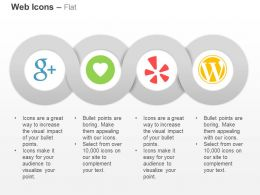 Gratipay Google Plus Yelp Wordpress Ppt Icons Graphics