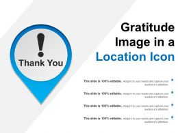 Gratitude Image In A Location Icon
