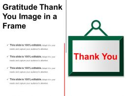 Gratitude Thank You Image In A Frame