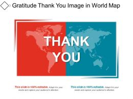 Gratitude Thank You Image In World Map