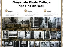 Grayscale Photo Collage Hanging On Wall