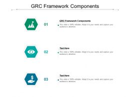 GRC Framework Components Ppt Powerpoint Presentation Model Example Introduction Cpb