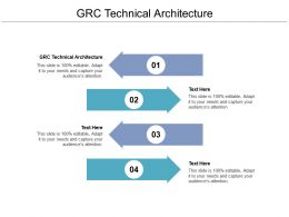 GRC Technical Architecture Ppt Powerpoint Presentation Infographics Deck Cpb