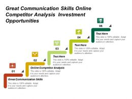 Great Communication Skills Online Competitor Analysis Investment Opportunities