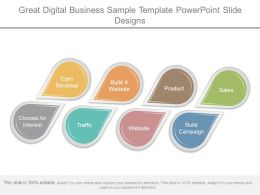 Great Digital Business Sample Template Powerpoint Slide Designs