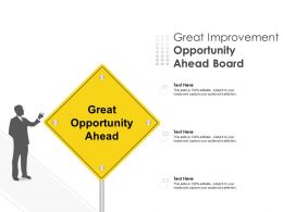 Great Improvement Opportunity Ahead Board