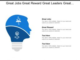 Great Jobs Great Reward Great Leaders Great Culture