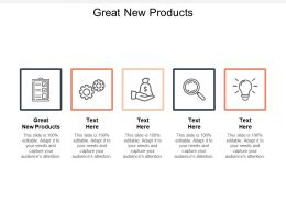 Great New Products Ppt Powerpoint Presentation File Skills Cpb
