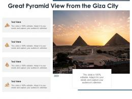Great Pyramid View From The Giza City