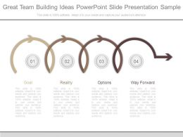 Great Team Building Ideas Powerpoint Slide Presentation Sample