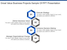 Great Value Business Projects Sample Of Ppt Presentation