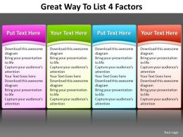 great way to list 4 factors editable powerpoint slides templates infographics images 21