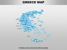 Greece Powerpoint Maps