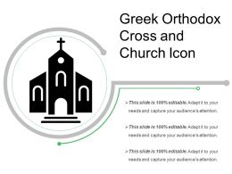Greek Orthodox Cross And Church Icon