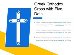 Greek Orthodox Cross With Five Dots