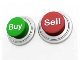 Green And Red Buttons With Buy And Sell Concept Stock Photo