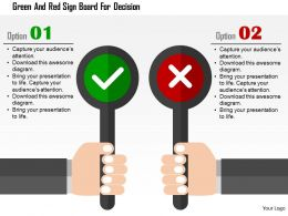 Green And Red Sign Board For Decision Flat Powerpoint Design