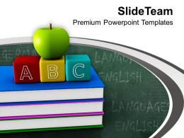 Green Apple And ABC Cubes PowerPoint Templates PPT Themes And Graphics 0213