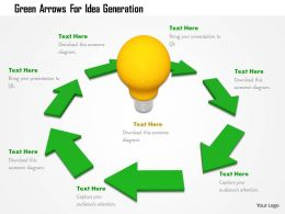 Green Arrows For Idea Generation Image Graphics For Powerpoint