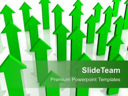 Green Arrows Pointing Upwards Success Powerpoint Templates Ppt Themes And Graphics 0113