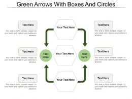 Green Arrows With Boxes And Circles