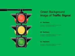 Green Background Image Of Traffic Signal