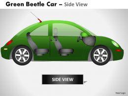 green_beetle_car_side_view_powerpoint_presentation_slides_Slide02