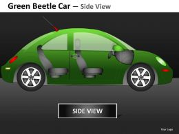 Green Beetle Car Side View Powerpoint Presentation Slides DB