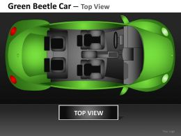 Green Beetle Car Top View Powerpoint Presentation Slides DB