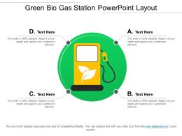 Green Bio Gas Station Powerpoint Layout