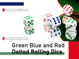 Green Blue And Red Dotted Rolling Dice