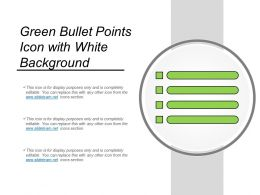 Green Bullet Points Icon With White Background