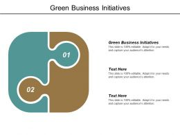 Green Business Initiatives Ppt Powerpoint Presentation Model Guide Cpb