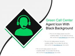 Green Call Center Agent Icon With Black Background