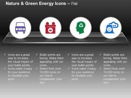 Green Car Battery Recycling Nuclear Power Ppt Icons Graphics