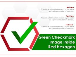 Green Checkmark Image Inside Red Hexagon