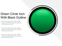 Green Circle Icon With Black Outline